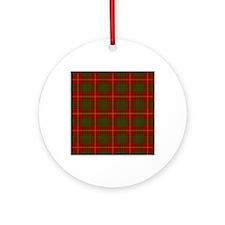 Cameron Modern Tartan Round Ornament