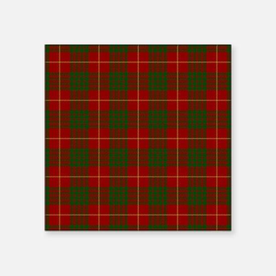 "Cameron Modern Tartan Square Sticker 3"" x 3"""