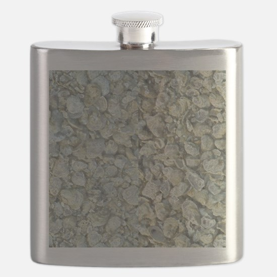 Inverted Oyster Shells Abstract Flask