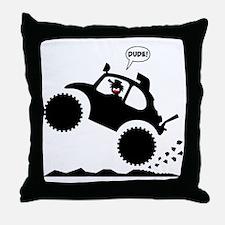 BAJA BUG WHEELIES black image Throw Pillow