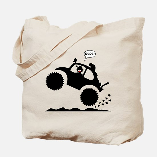 BAJA BUG WHEELIES black image Tote Bag