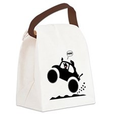 BAJA BUG WHEELIES black image Canvas Lunch Bag