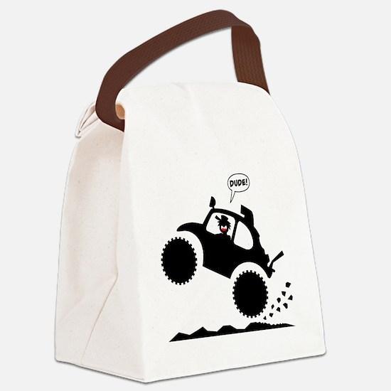 BAJA BUG WHEELIES black image Canvas Lunch Bag