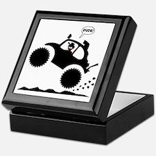 BAJA BUG WHEELIES black image Keepsake Box