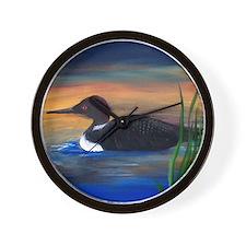 Loon Lake Wall Clock