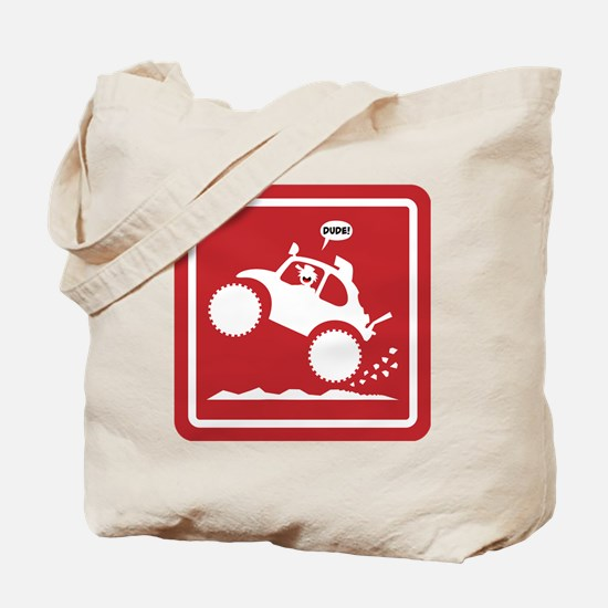 BAJA BUG WHEELIES sign Tote Bag