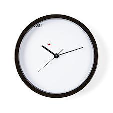 BAJA BUG JUMPING White Image Wall Clock
