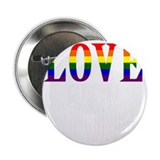 "Love is Never Wrong 2.25"" Button"