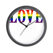 Love is Never Wrong Wall Clock