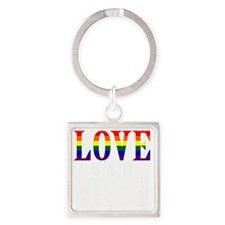 Love is Never Wrong Square Keychain