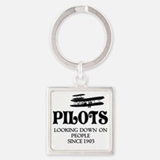 Pilots Square Keychain