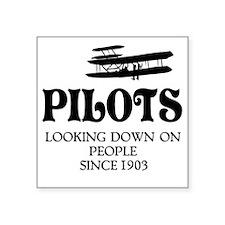 "Pilots Square Sticker 3"" x 3"""