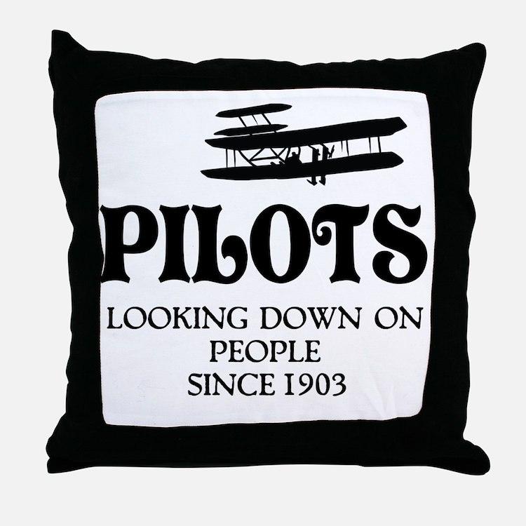 Pilots Throw Pillow