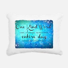 One Kind Word Rectangular Canvas Pillow