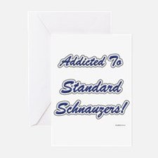 Schnauzer Addicted Greeting Cards (Pk of 10)