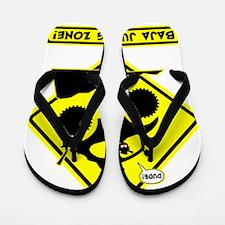BAJA BUG JUMPING Road sign Flip Flops