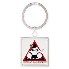 STICKMAN BAJA BUG Danger-1 Square Keychain