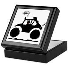 STICKMAN BAJA BUG black image Keepsake Box