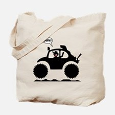 STICKMAN BAJA BUG black image Tote Bag