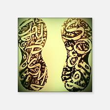 "Vignette_Gypsy Footprints Square Sticker 3"" x 3"""
