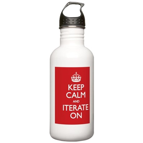 Keep Calm and Iterate Stainless Water Bottle 1.0L
