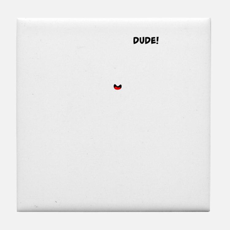 BAJA BUG WHEELIES white image Tile Coaster