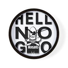 HELL NO GMO Wall Clock