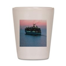 Cruise Ship at Sunset Shot Glass