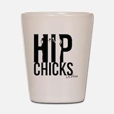 Hip Chicks do Wine Shot Glass