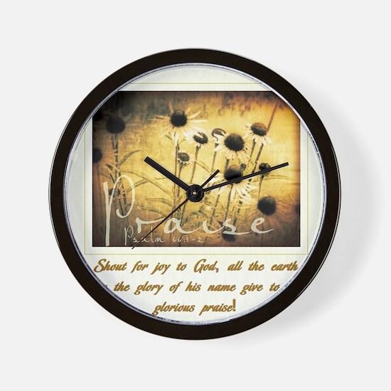Glorious Praise Wall Clock