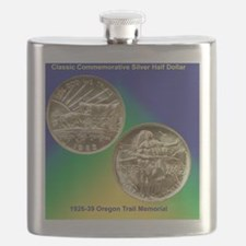 Oregon Trail Half Dollar Coin  Flask