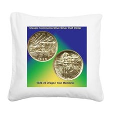 Oregon Trail Half Dollar Coin Square Canvas Pillow