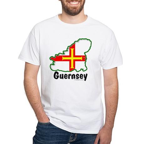 White T-Shirt - Guernsey Logo