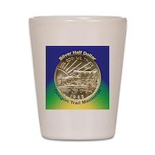 Oregon Trail Half Dollar Coin  Shot Glass