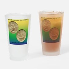 Pilgrim Tercentenary Half Dollar Co Drinking Glass