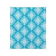 Aqua Damask Throw Blanket