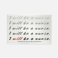 I Will Be a Nurse! Rectangle Magnet (10 pack)