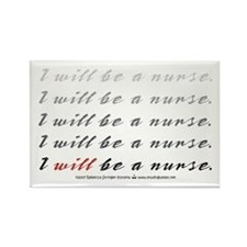 I Will Be a Nurse! Rectangle Magnet