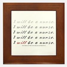 I Will Be a Nurse! Framed Tile