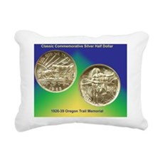 Oregon Trail Half Dollar Rectangular Canvas Pillow
