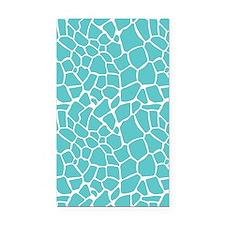 Giraffe print aqua Rectangle Car Magnet