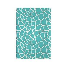 Giraffe print aqua Rectangle Magnet