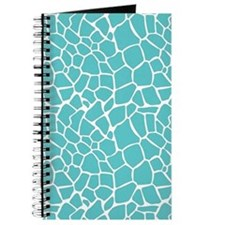 Giraffe print aqua Journal