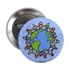 "One world, one people 2.25"" Button (10 pack)"