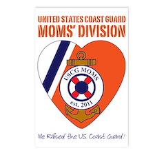 Moms Division / Dark Blu Postcards (Package of 8)