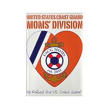 Moms Division / Dark Blu Rectangle Magnet