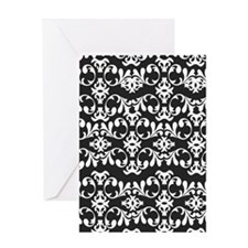 Simple Damask Greeting Card