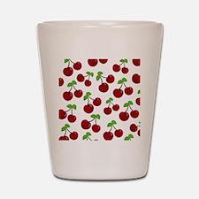 Cherries Shot Glass