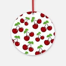 Cherries Round Ornament