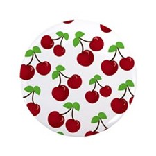 "Cherries 3.5"" Button"